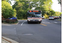 Bus on Ridge Road after Safety Road
