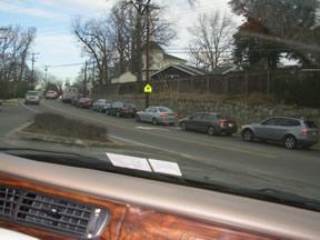 Morning Traffic on Ridge Road